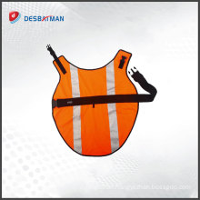 Wholesale Fluorescent orange 3M reflective dog vest