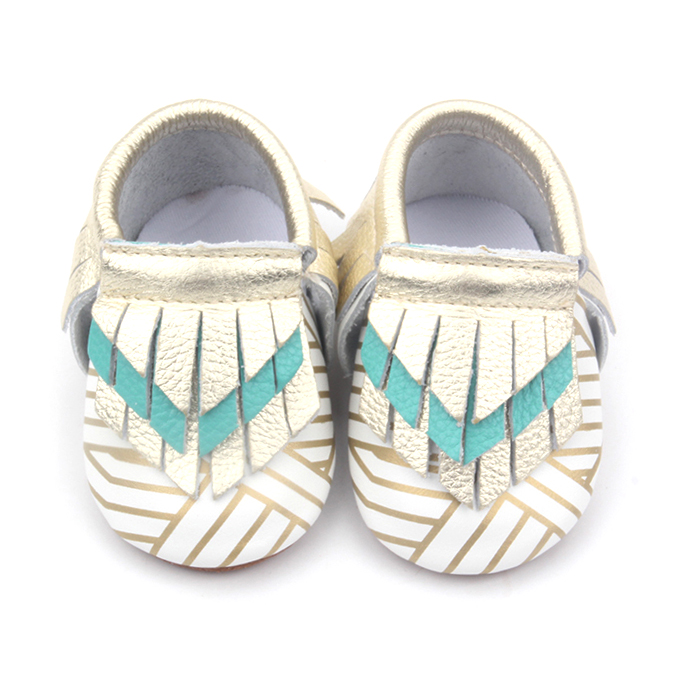 New Arrived Low Price Baby Girl Printing Moccasins