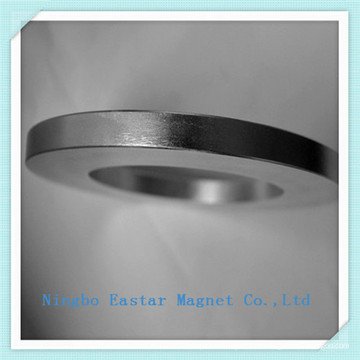 N48 Tamaño grande Zinc capa anillo imán de neodimio