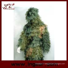 Camouflage vêtements Ghillie Suit feuille Ghillie Suit pour utilisation de Wargame