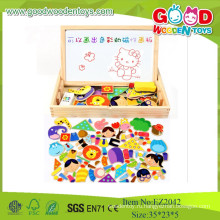 Хорошие деревянные игрушки Магнитная игровая коробка с рисунками Дети Образовательные игры