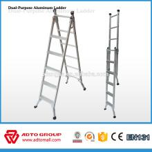 Venta caliente 2016 escalera de mano de aluminio, escalera plegable, escalera de doble propósito