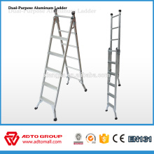 Hot sale 2016 aluminum step ladder,folding ladder,dual purpose ladder