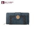 HEC Custom Estilo Retro Mulher Bolsa PU Leather Lady Moeda Carteiras
