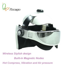 Masseur magnétique sans fil de massage de tête de chauffage