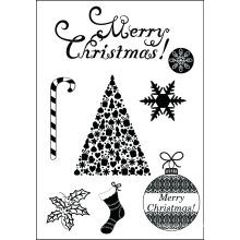 Navidad de 2015 establece clara sellos para scrapbooking