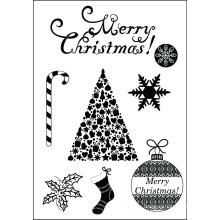 2015 Christmas set clear stamp for scrapbooking