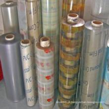 Folha plástica flexível do PVC da cor
