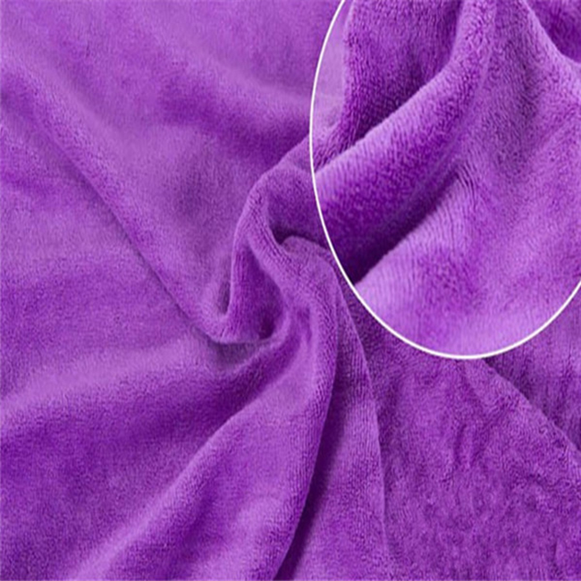 100% polyester plain dyed car towel