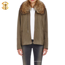 Мода Классический меховой воротник куртки с длинным рукавом мужчин или женщин молнии с капюшоном свитер пальто
