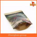 Bolsa de papel Kraft para ventana transparente laminada biodegradable para Emirates Fecha Paquete