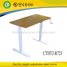 Populärer Entwurf sitzen, um den Computer-Schreibtisch zu stehen, der mit Manual Cranked anhebt