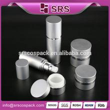 1 / 2oz 15ml 1oz 30ml 1.7oz 50ml Frasco de alumínio frasco de alumínio de alumínio garrafa de plástico com Alu bomba de alumínio recipiente