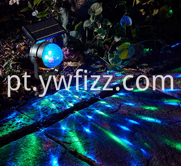 Outdoor Solar Energy Discolourable Projection Lamp