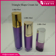 Gold Cap Triangle Acrylic Lotion Luxury Bottle