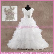 LS6004 Vestido de casamento de qualidade real fotos Alibaba alto vestido de casamento vestido de casamento organza real vestido nupcial de noiva de casamento