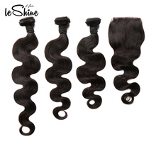 Silky And Soft Wholesale Brazilian 8A Cuticle Aligned Virgin Hair Weave 3 Bundles With Closure Vendors