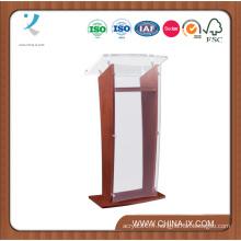 Podium en bois avec panneau et surface en acrylique