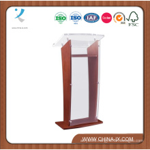 Wood Podium with Acrylic Panel & Surface