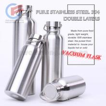 En gros 18/8 alimentaire de qualité en acier inoxydable 304 double couches mouvement extrême extérieure bouteille isotherme bouteille de voyage