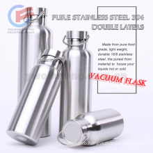 Wholesale 18/8 food grade stainless steel 304 double layers extreme movement outdoor vacuum flask travel bottle