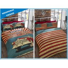 Imagem americana reversível impresso poliéster capa de edredão conjunto de cama