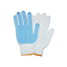 10g tejido guante de trabajo de revestimiento de T / c con PVC punteado