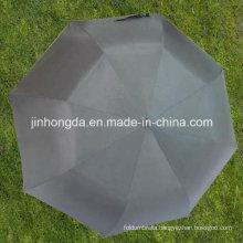 27 Inches Black 2-Folding EVA Handle Auto Open Umbrella (YS2F0009-1)
