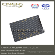 Cartão de nome brilhante da fibra do carbono do revestimento, produtos completos da fibra do carbono pelo fabricante profissional da fibra do carbono