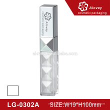 Plastic silver lipstick tube/ Lip gloss tube package with brush