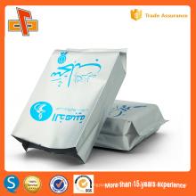 Bolsa de embalaje de papel de aluminio resellable personalizada para el café de frutas secas