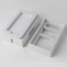 Boîtes d'emballage de support de téléphone portable en gros blanc