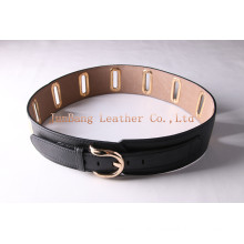 Alloy Oval Buckle Big Flat Hole with Rivet Belts
