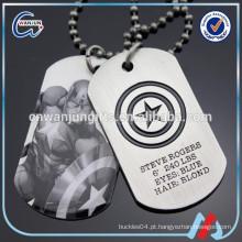 Tag do cão do exército do metal da maravilha de Capitão América