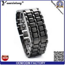 Vente chaude YXL-150 tungstène populaire lave binaire LED Montre unisexe hommes femmes mode numérique montres Logo personnalisé poignet Watch Factory