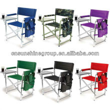 Gefaltete Metall oder Aluminium Stuhl des Regisseurs