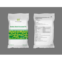 Fe quelatada hidrolizada de alta calidad; Polvo de color amarillo pálido