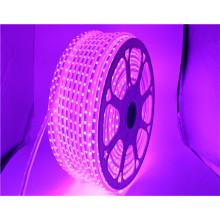 110 V entrée 16 couleurs haute luminosité 60 polegada / m IP65 étanche RGB 5050 smd led bande