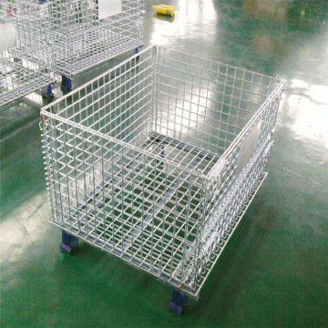 Storage Rack Foldable Wire Mesh Container
