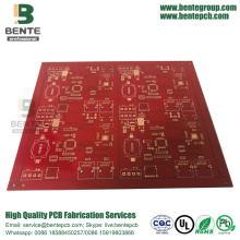 4layers Multilayer PCB Red Ink PCB em Shenzhen