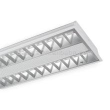 T5 escritório iluminação fluorescente embutida grade lâmpadas 2x28W