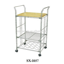 Hotel Modern Stainless Steel Trolley with Wheels