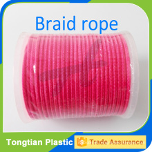 Red polyester double braided rope