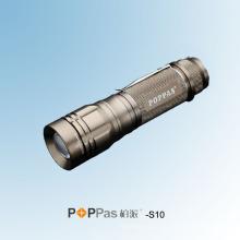 10W CREE Xm-L T6 высокой мощности алюминиевый светодиодный фонарик (POPPAS-S10)