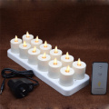 set 12 Pindah Api Luminara Rechargeable Tea Lights