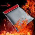 Vattentålig Custom Silicone Fireproof Money Document Bag