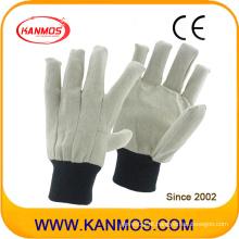 Alta qualidade broca dupla Palmed costura lona segurança industrial luvas de algodão de trabalho (410011)