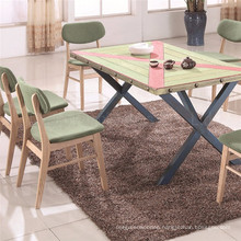 Customized Brass Nail Table Chinese Restaurant Tables and Chairs (SP-CT737)