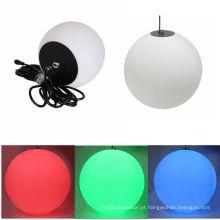 Iluminação manual da esfera da bola do diodo emissor de luz RGB do endereço 30CM