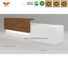 Fashionable White Office Furniture Wooden Front Desk (HY-Q37)